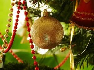 Eine Christbaumkugel an unserem Weihnachtsbaum (piqs.de ID: 38a0a60bcb666f21f6c048667fe34129)